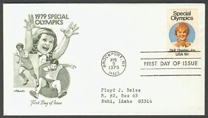 #1788 15c Special Olympics, Artmaster-Addressed [2] FDC **ANY 4=FREE SHIPPING**