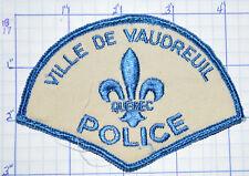 CANADA, VILLE DE VAUDREUIL POLICE DEPT QUEBEC PATCH