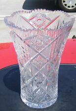 Vintage Cut Crystal Vase Eastern Europe in 60's or 70's.