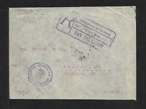 EL SALVADOR TO GERMANY MULTIFRANKED AIRMAIL COVER 1928