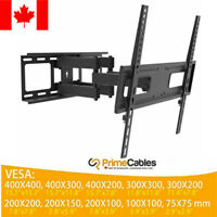 "Flat Panel TV Wall Mount Full Motion Tilt Swivel LCD LED 26""-55"" Dual Arm"