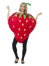 ADULT STRAWBERRY FRUIT FUNNY COSTUME EMOJI FANCY DRESS MEN'S WOMEN'S