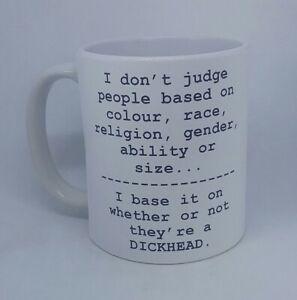 Rude-Dickhead coffee mug funny mug novelty birthday gift Christmas present tea