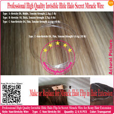 4PC Miracle Halo Hair Wire Install 100% Flip In Halo Human Hair Extension-type C