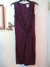 Adrianna Papell - Purple V-neckline Sleeveless Knit Dress  - size 6 - New w/Tag