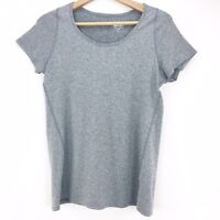 REI Women's Gray Scoop Neck Athletic Top Short Sleeve Stretch Size Large