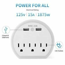 Surge Protect Wall Outlet with 3 USB Ports LED Night Light