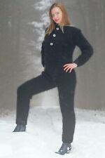 Mohair catsuit ski bodysuit fuzzy handknit sweater pants thick pajama SUPERTANYA