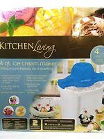 Electric Ice Cream Frozen Yogurt Maker - Kitchen Living - 4 Quart  New in Box