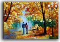 YaSheng Art - Autumn Tree Oil Painting On Canvas Landscape Textured Abstract