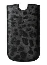 NEW $150 DOLCE & GABBANA Phone Case Cover Gray Patterned Leather SIII 14x8,5cm