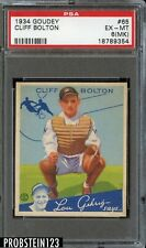1934 Goudey #65 Cliff Bolton Washington Senators PSA 6(MK) EX-MT
