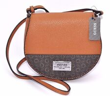 NWT GUESS PRESENT MINI CROSS BODY Handbag BAG Messenger Highway COGNAC G Sign
