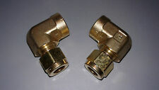 PARKER 6-4 DBZ-B, Elbow 90 Degree, Brass, CPI, 3/8