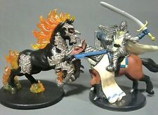 Dungeons & Dragons Miniatures  Nightmare & Mounted Paladin !!  s85