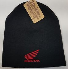 Honda Motocycle Embroidered Skull Beanie/ SKULL Beanie Hat Cap Honda MC Wings
