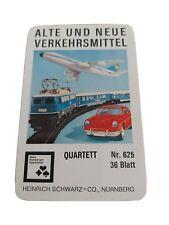 Quartett - Alte und neue Verkehrsmittel / Nürnberger Spielkarten Nr. 625.
