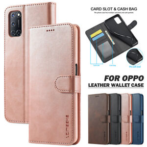For OPPO A5/A9 2020 A52/A72/A92 A53 Realme C3/5 Case Leather Wallet Flip Cover