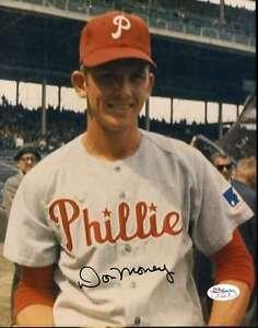 Don Money Phillies Signed 8x10 Photo Jsa Cert Sticker Authenticated Autograph