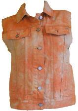 Smanicato Giubbino Giubbotto Giacca in jeans Donna Insight Arancione Casual M
