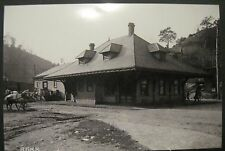 Vintage RP Bramwell VA Virginia N & W Train Station 1885 Classic Photo Image