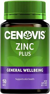 Cenovis Zinc Plus Tablets Supports Skin Health & Collagen Formation 150 Tabs NEW