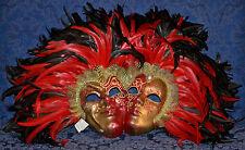 """MASCHERA DEL GALEONE Decorative WALL DOUBLE MASKS  w/Certificate  T:19"""". W:26"""""""