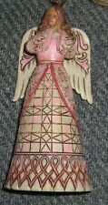 Jim Shore Praying Brown Hair Angel Breast Cancer Pink Heartwood Creeks