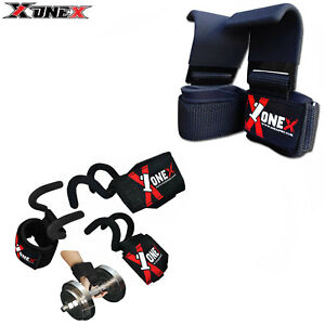 1x Weight Lifting Gym Training Hook Wrist Support Gripper Straps Weight Lifting