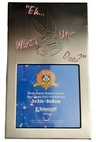 """Looney Tunes Picture Frame Bugs Bunny 3"""" x 3"""" Photo Brushed Metal Vintage 2000"""