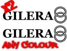 X2 GILERA LOGO STICKERS DECALS GILERA RUNNER GRAPHICS 100% WATERPROOF 172 183