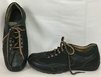 Womens Born Hawkeye W32141 Black Leather + Suede Bicycle Toe Comfort Oxford US 8