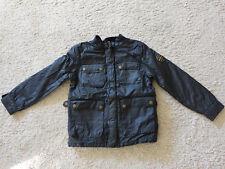 Lässige warme Biker-Jacke von ZARA, Teddifutter zum rausnehmen, Gr. 128, schwarz