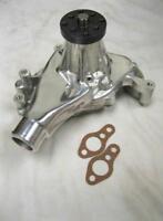 Small Block Chevy Long Polished Aluminum Water Pump High Volume 283 350 400 SBC