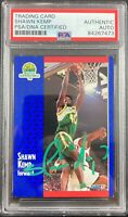 Shawn Kemp auto signed card Fleer #192 Seattle Supersonics PSA Encapsulated