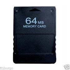 PS2 MEMORY CARD 64MB NERA PLAYSTATION 2 PSTWO