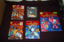 Vintage Disney Aladdin Jasmine & Genie MOC Action Figure Lot Top n Tails & More