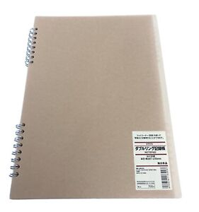 Muji Craft Notebook Double Ring 20 Sheets A4 Size New