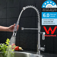 WELS Modern Kitchen Faucet Chrome Pull Down Spray Head Sink Mixer Tap Deck Mount