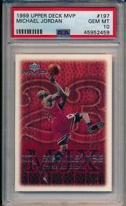 1999 UPPER DECK MVP MICHAEL JORDAN #197 PSA 10 GEM MINT 6 RINGS GREATEST EVER!