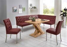 Eckbankgruppe Tischgruppe Eckbank Tisch Stühle Manchester bordeaux Honigeiche