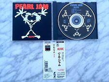 Pearl Jam Alive CD Single Japan Import 4 Track Disc w/Obi Strip EX+ Eddie Vedder
