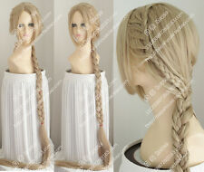 Rapunzel COS Wig Tangled The Video Game Long Braid Cosplay Wig Hair 110CM