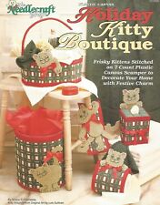 Holiday Kitty Boutique Plastic Canvas Patterns TNS Basket Tissue Cover Cats