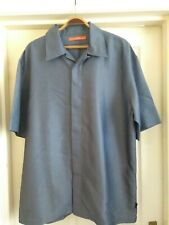 "Mens Short Sleeve Shirt. Firetrap XL Extra Large 48"" Chest. Silver/Grey. Smart."