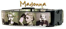 "Madonna dog collar Handmade adjustable buckle 1""wide or leash 1980's Pop music"