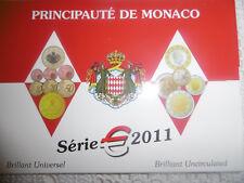 BU MONACO 2011 AVEC LA 2 EUROS NORMALE ET LA  2 EUROS MARIAGE PRINCIER
