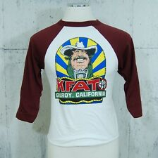 Vtg 1977 Kfat Gilroy California Radio Station T Shirt Medium M Kpig Americana