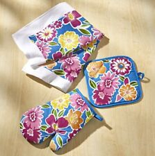 3-tlg küchenset Dish Towel & Pot Cloth & Oven Glove/Oven Glove