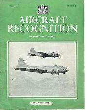 AIRCRAFT RECOG DEC 42: POWER PLANTS/ BRISTOL BEAUFIGHTER/ SCALE SILHOUETTES